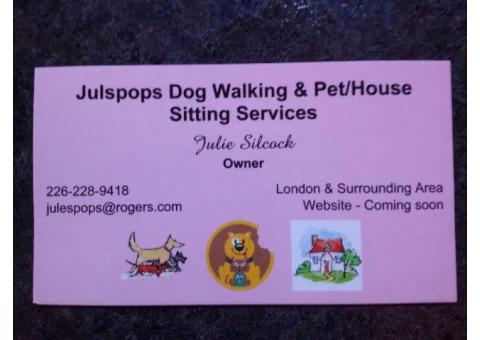 Dog Walking & Pet/House Sitting Services