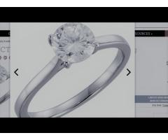 14K White 1 CTW Diamond Solitaire